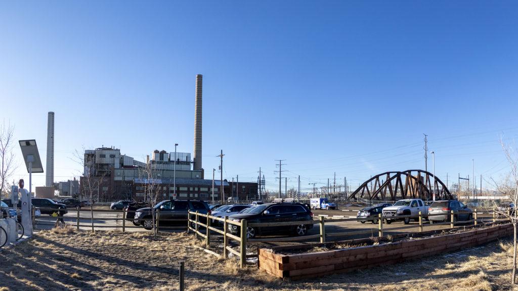 The parking lot at Steam On The Platte, Sun Valley, Jan. 14, 2020. (Kevin J. Beaty/Denverite)