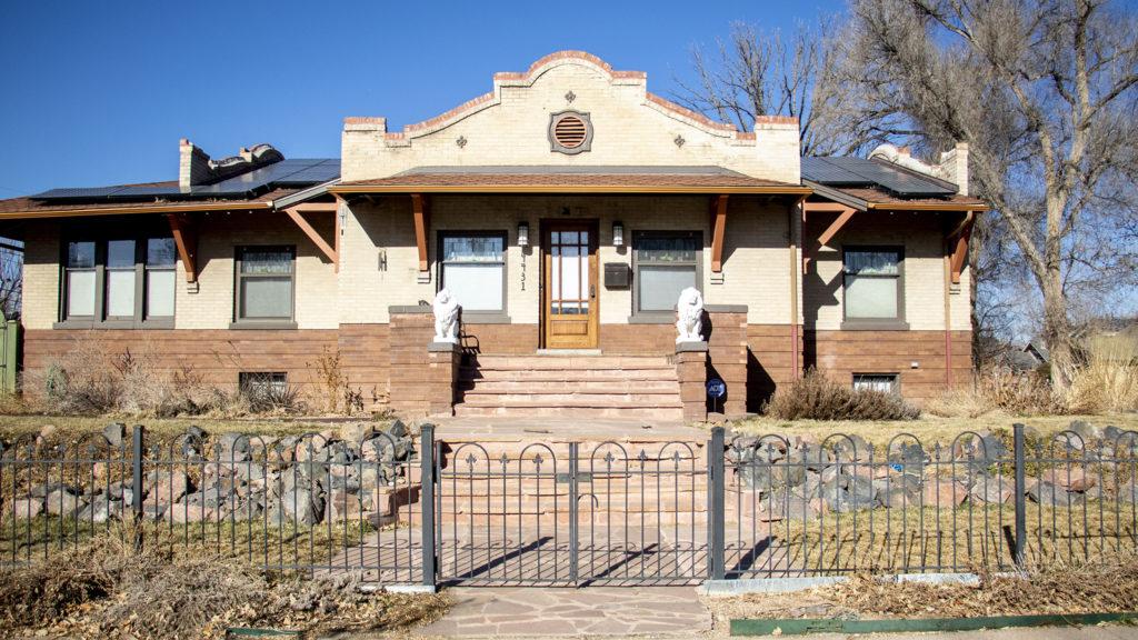 George Dennis' storied North Park Hill home. Jan. 15, 2019. (Kevin J. Beaty/Denverite)