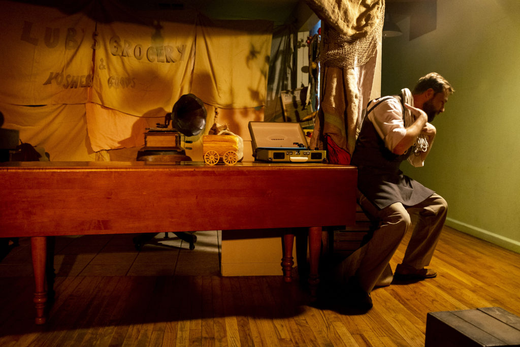 "Buba Basishvili performs in a scene during ""Recipe"" at The Savoy at Curtis Park, Jan. 19, 2020. (Kevin J. Beaty/Denverite)"
