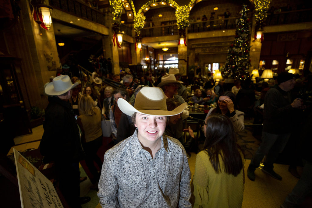 Jagger Horn poses for a portrait at the Brown Palace Hotel, Jan. 24, 2020. (Kevin J. Beaty/Denverite)