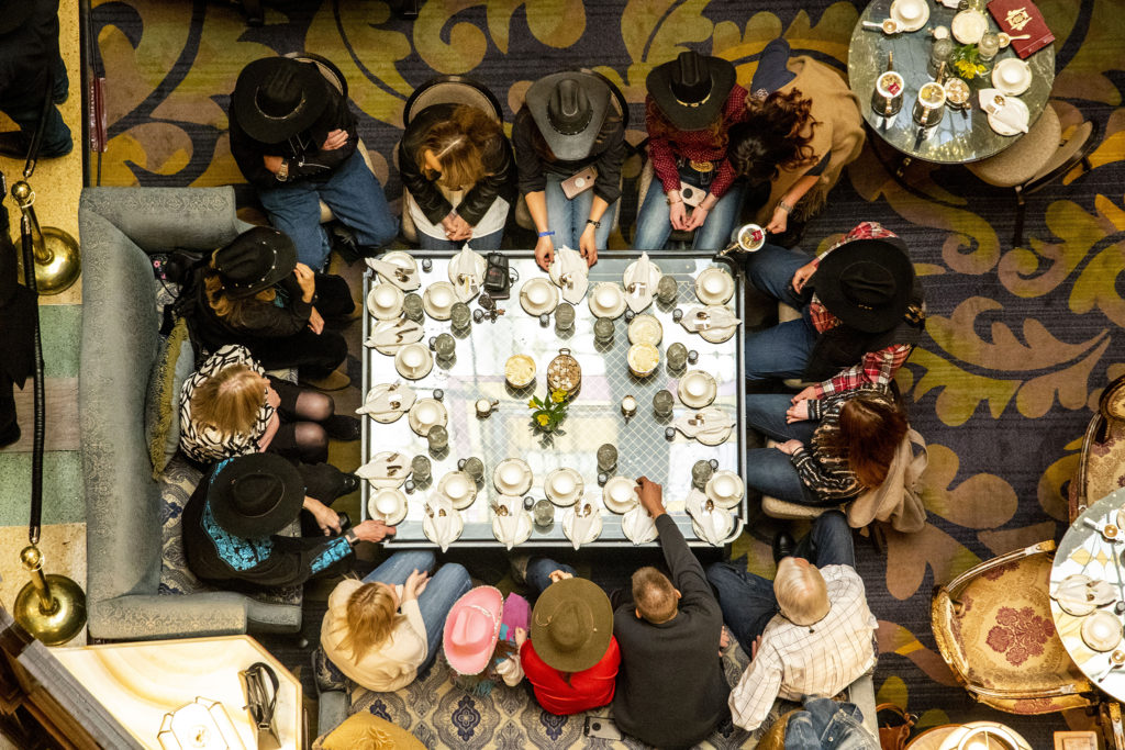 Cowboy tea time at the Brown Palace Hotel, Jan. 24, 2020. (Kevin J. Beaty/Denverite)