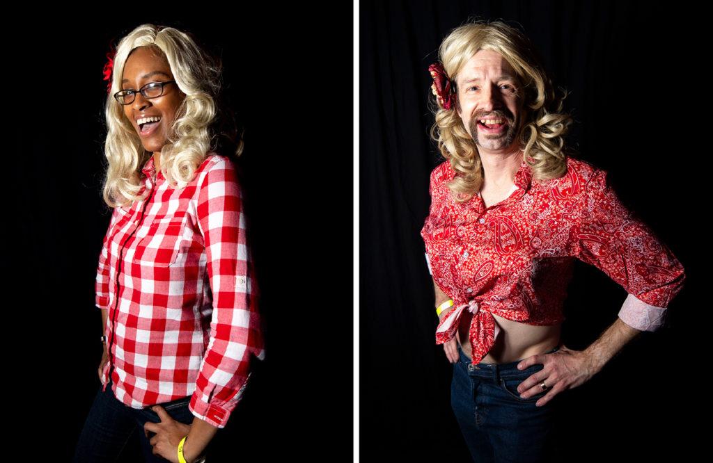 Shundia Jackson and Jeremy Johnson. Dolly Day Denver, Jan. 26, 2020. (Kevin J. Beaty/Denverite)