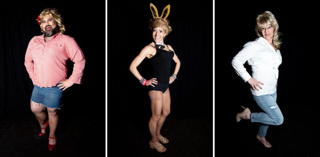 TJ Kizuka, Brittany Charboneau and Chrissy McAden. Dolly Day Denver, Jan. 26, 2020. (Kevin J. Beaty/Denverite)