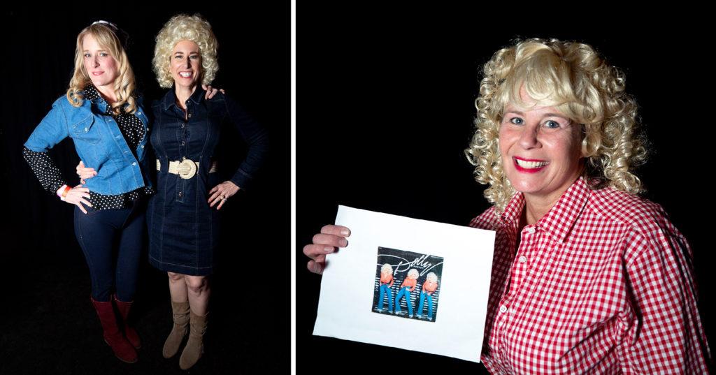 Sarah Tuomi and Susan Squibb and Angi Xanders. Dolly Day Denver, Jan. 26, 2020. (Kevin J. Beaty/Denverite)