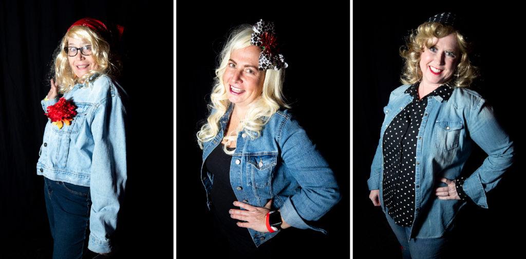 Angie Perry, Lori Raymond and Shelley Bezek. Dolly Day Denver, Jan. 26, 2020. (Kevin J. Beaty/Denverite)