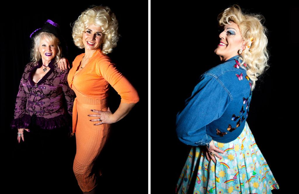 Laray Dembiczak and Josie Pack and Stuart Sanks, AKA Shirley Delta Blow. Dolly Day Denver, Jan. 26, 2020. (Kevin J. Beaty/Denverite)