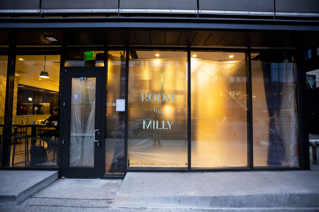 Room & Milly is under construction on Platte Street. Highland, Jan. 29. 2020. (Kevin J. Beaty/Denverite)