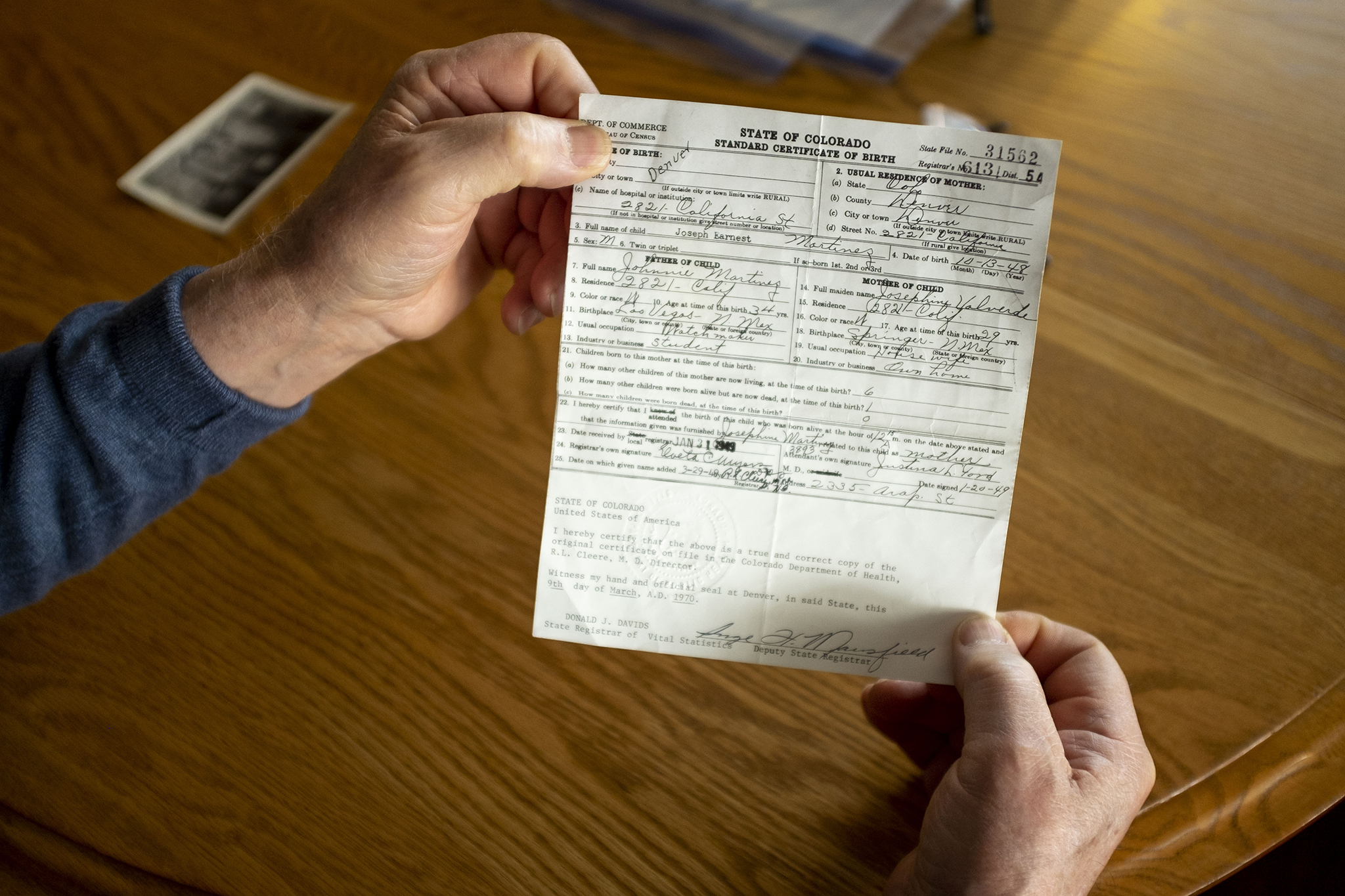 ford justina denverite signed kevin joseph certificate birth feb martinez beaty denver