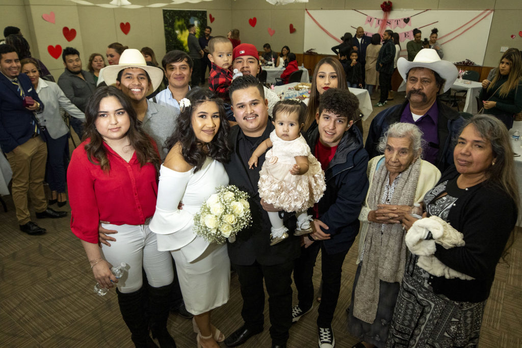 Luis and Maria Molina were married on Valentine's Day at the office of Denver's Clerk and Recorder, Feb. 14, 2020. (Kevin J. Beaty/Denverite)