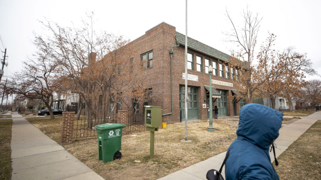 Denver's old firestation number 10, now home to the Women's Bean Project in Five Points. Feb. 25, 2020. (Kevin J. Beaty/Denverite)