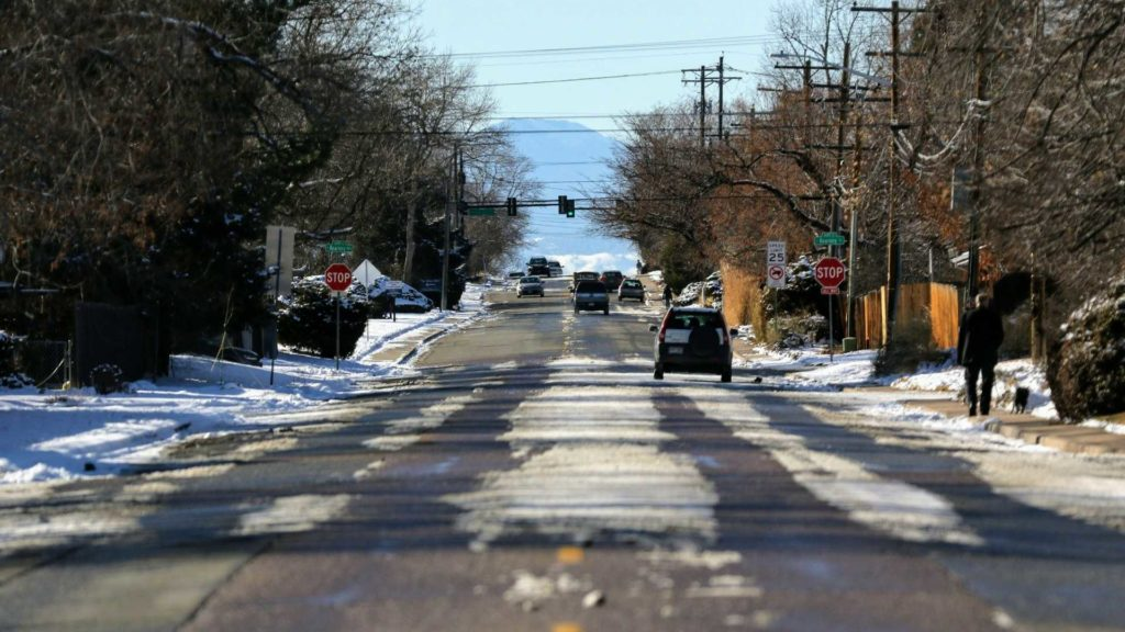 Jewell Avenue in Virginia Village, Feb. 4, 2020. (Kevin J. Beaty/Denverite)