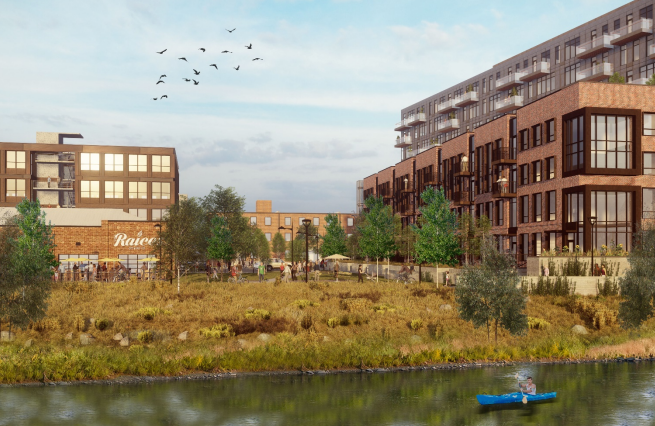 A rendering of the completed Steam on the Platte complex. (Courtesy, Urban Ventures)