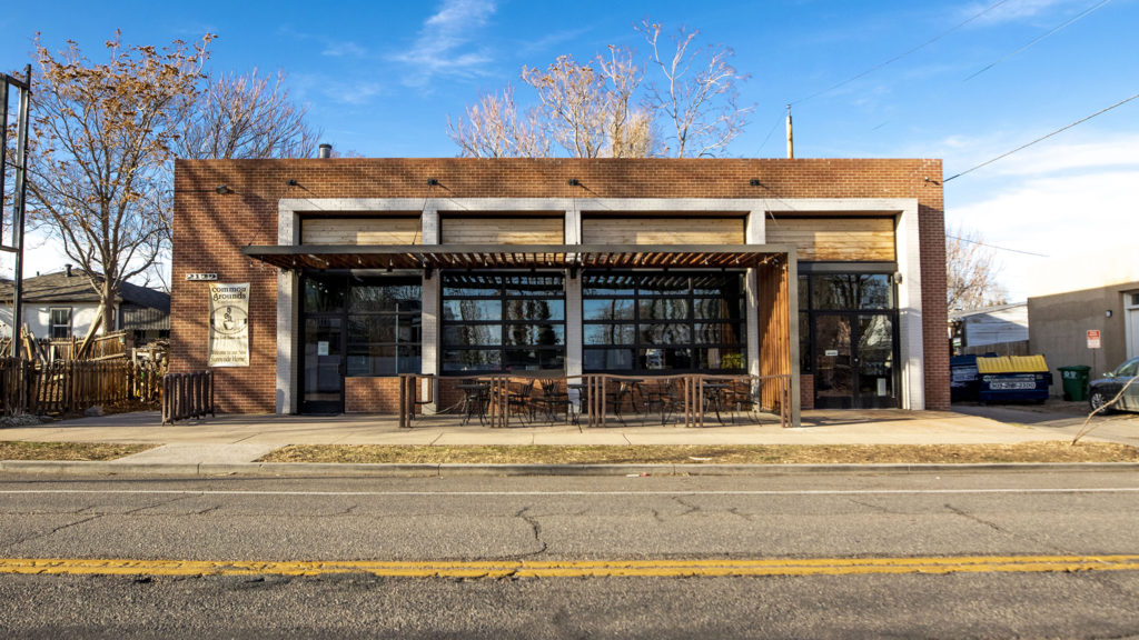 Common Grounds Coffee is Sunnyside is closed, March 6, 2020. (Kevin J. Beaty/Denverite)