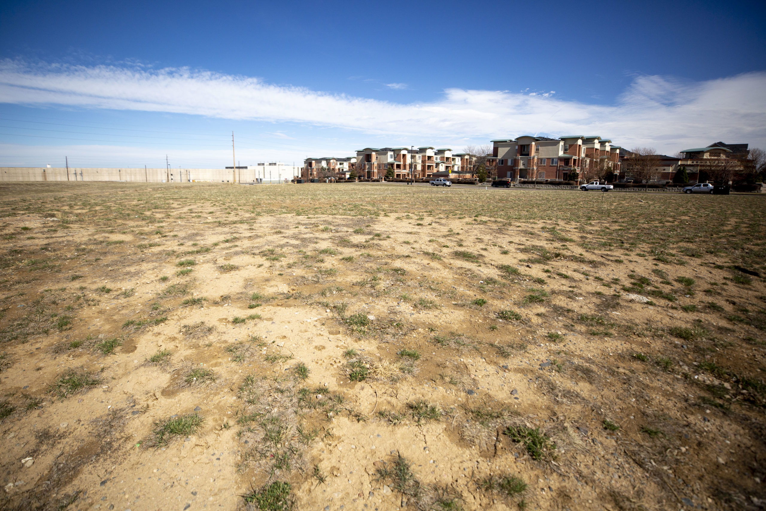 Acres owned by the Urban Land Conservancy near the intersection of 40th Avenue and Colorado Boulevard, March 11, 2020. (Kevin J. Beaty/Denverite)