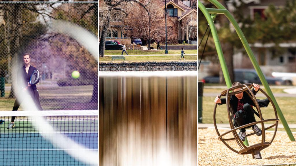 Washington Park is full of people. March 17, 2020. (Kevin J. Beaty/Denverite)