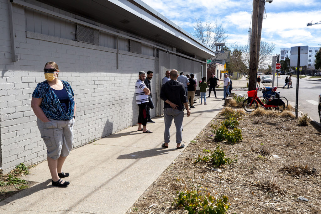 The Sun Valley Kitchen is ready to distribute a lot of groceries to a lot of people, March 25, 2020. (Kevin J. Beaty/Denverite)