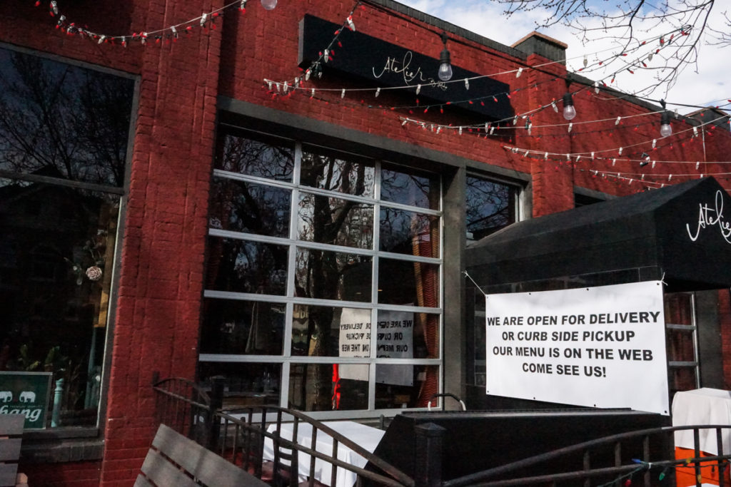 Atelier on 17th Avenue in City Park West, March 17, 2020. (Emily Ownes)
