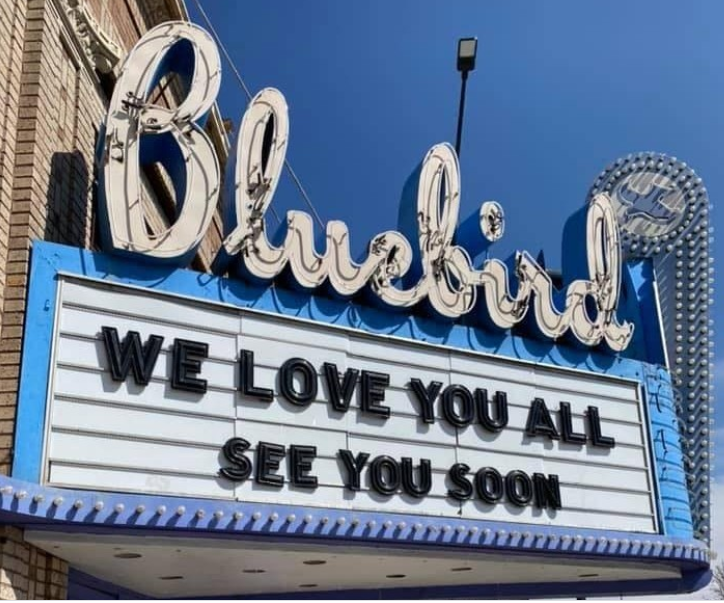 The Bluebird has a message for you. (Bluebird Theater on Instagram)