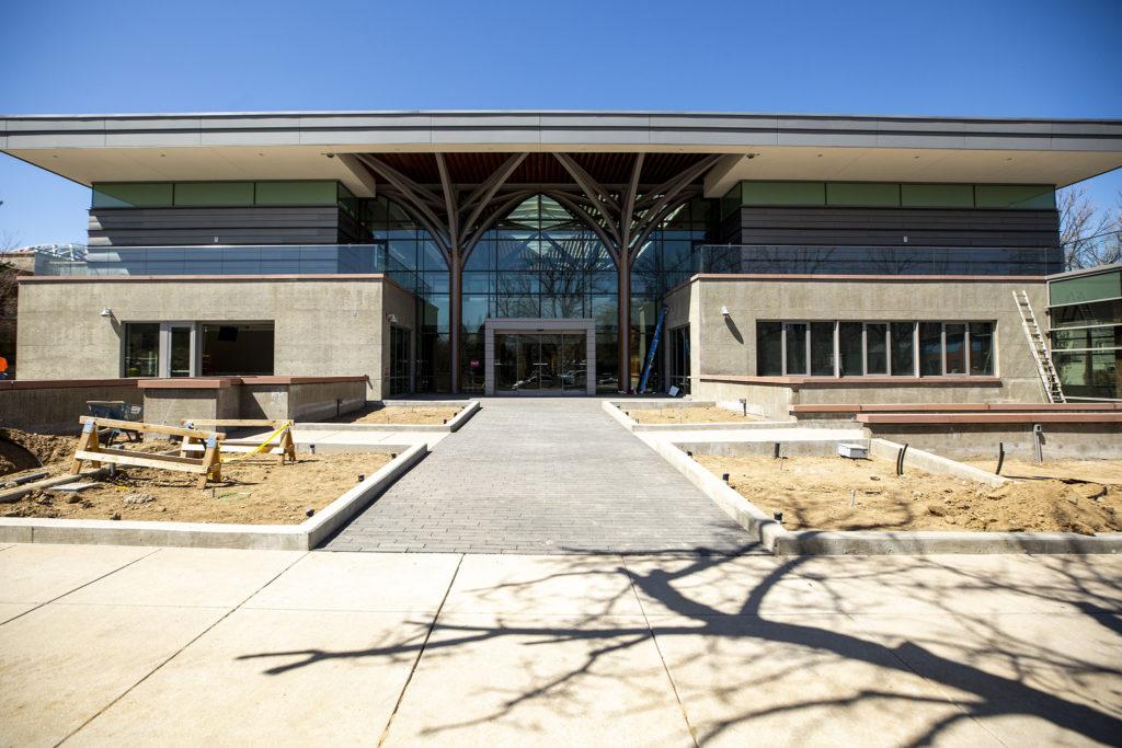 The Denver Botanic Gardens' new building on York Street, April 7, 2020. (Kevin J. Beaty/Denverite)