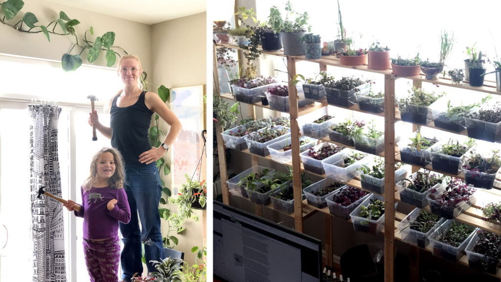 Christina Ingersoll, her daughter Lia and some of her many plants. (Courtesy: Christina Ingersoll)