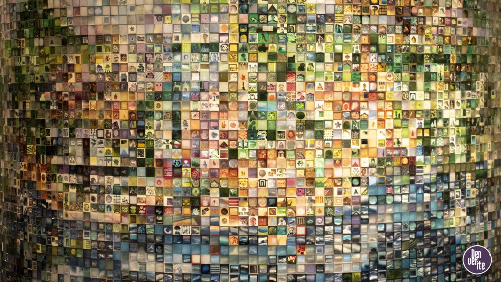 """Study for Utopia"" by Jonathan Saiz on display inside the Denver Art Museum, May 15, 2019. (Kevin J. Beaty/Denverite)"