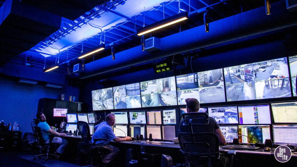 Inside RTD's security command center, July 3, 2019. (Kevin J. Beaty/Denverite)