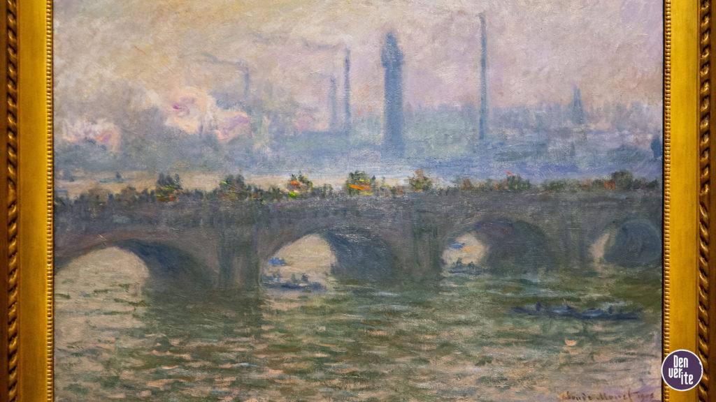 "Monet's ""Waterloo Bridge"" on display at the Denver Art Museum. Oct. 24, 2019. (Keivn J. Beaty/Denverite)"