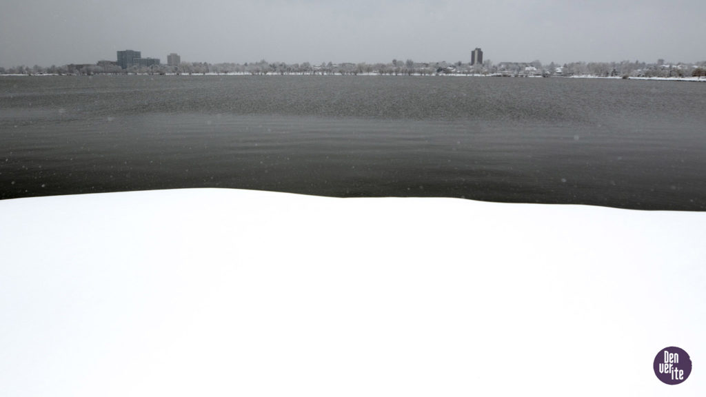 A cold evening over Sloan's Lake. April 16, 2020. (Kevin J. Beaty/Denverite)