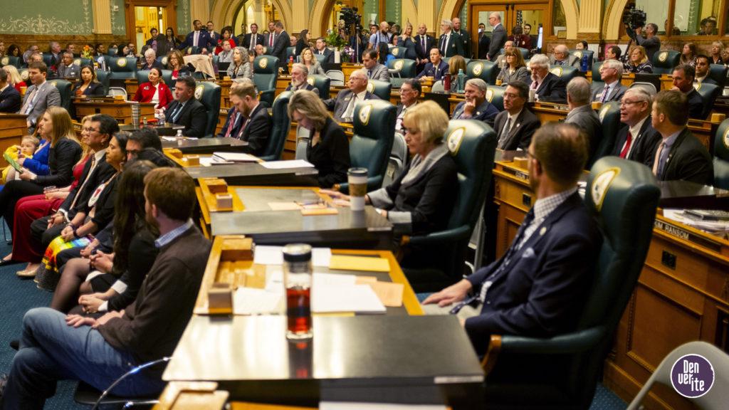 Gov. Jared Polis' second State of the State address. Jan. 9, 2019. (Kevin J. Beaty/Denverite)