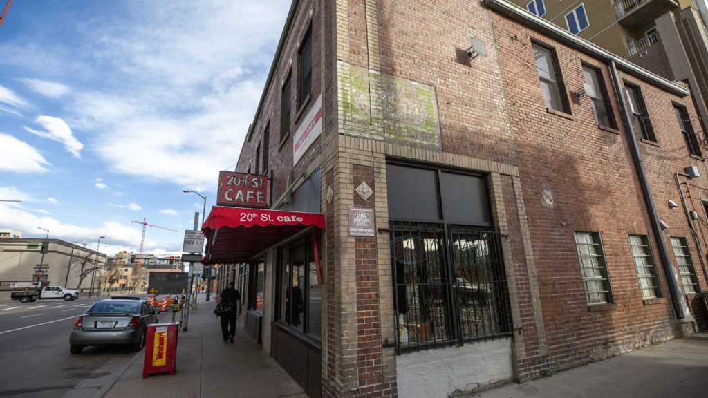 20th Street Cafe has been a staple in downtown Denver since 1946. April 23, 2020. (Kevin J. Beaty/Denverite)