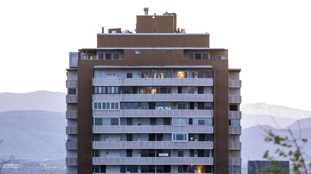 An apartment building near Cheesman Park. May 7, 2020. (Kevin J. Beaty/Denverite)