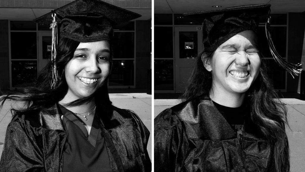 Jayda Alvarez and Michelle Castro. May 8, 2020. (Kevin J. Beaty/Denverite)