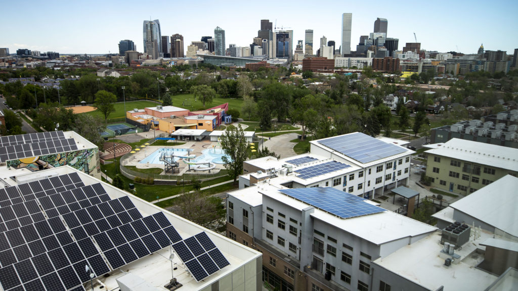 La Alma/Lincoln Park seen from the Denver Housing Authority's headquarters. May 21, 2020. (Kevin J. Beaty/Denverite)
