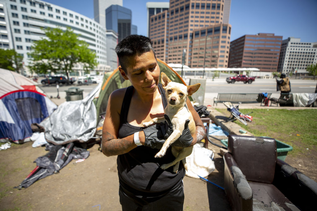 Alina Rodriguez said she inhaled tear gas during protests following the killing of George Floyd. May 29, 2020. (Kevin J. Beaty/Denverite)