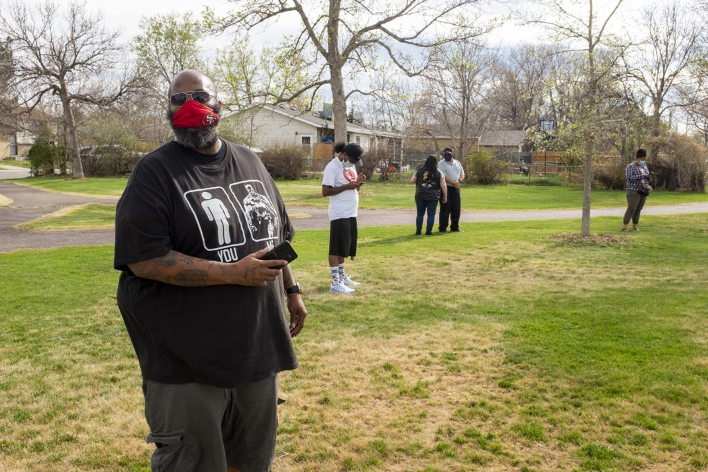 A rally against youth violence in Montbello. May 5, 2020. (Kevin J. Beaty/Denverite)