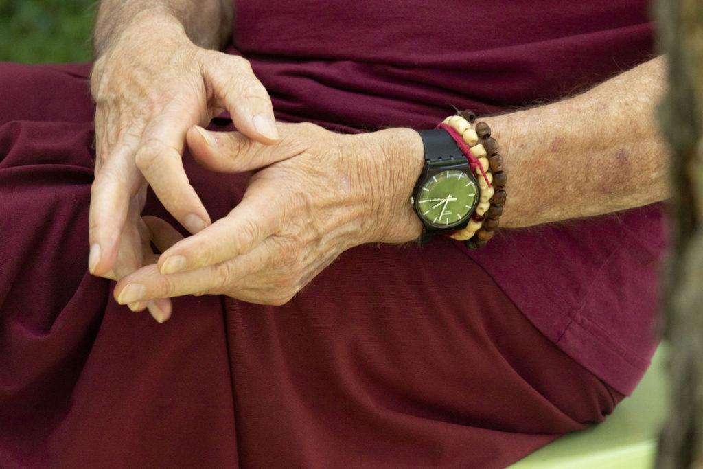 Kelsang Labsum during an interview at the Kadampa Meditation Center in Capitol Hill. June 1, 2020. (Kevin J. Beaty/Denverite)