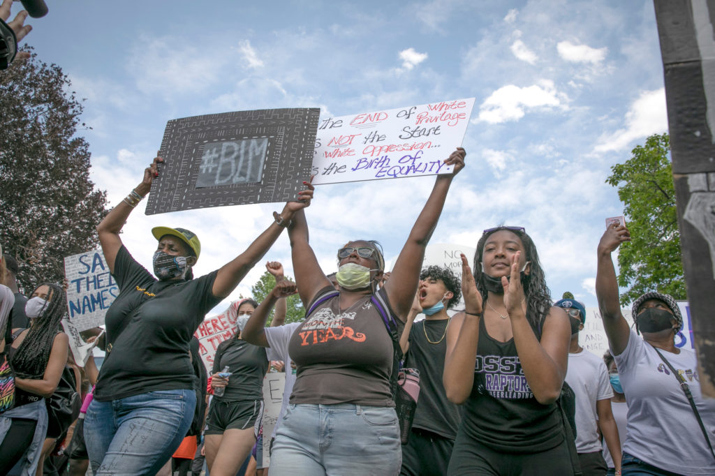 A student-led demonstration supporting Black Lives Matter, organized by DSST: College View High School in Denver, marched from Cheeseman Park to the Capitol on Tuesday, June 16, 2020.