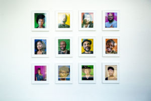 Portraits by Narkita Gold on display at the Leon Gallery in City Park West. June 24, 2020. (Kevin J. Beaty/Denverite)