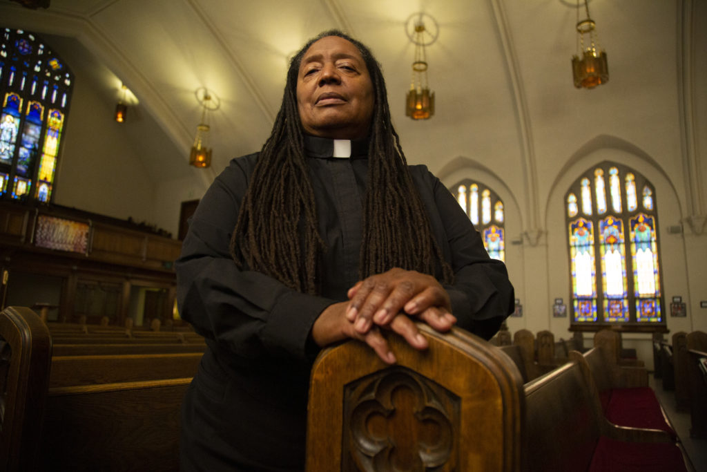 Barbara Berry-Bailey is a Lutheran pastor at St. Paul Lutheran and Catholic Community of Faith. (Brien Hollowell/Special to Denverite)