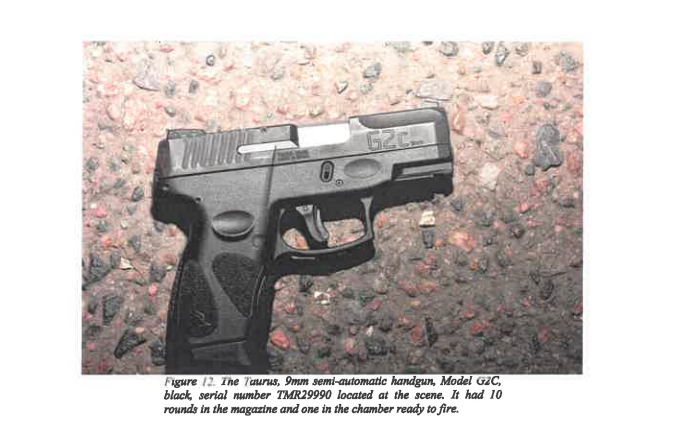 A handgun retrieved at the scene of William DeBose's shooting that police believe he used to point at a Denver police officer. (Photo Courtesy of Denver's District Attorney's Office)