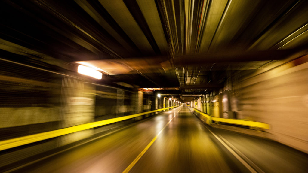 Inside the labyrinth of tunnels beneath Denver International Airport. July 7, 2020.