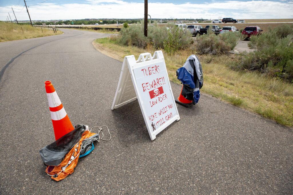 """TUBERS BEWARE!!"" South Platte Park in Littleton. July 18, 2020."