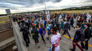 A protest  demanding justice for Elijah McClain has taken over I-225. July 25, 2020.