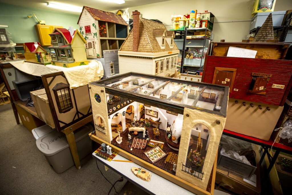 A mice-sized western art gallery in the Denver Museum of Miniatures, Toys and Dolls' Lakewood collections room. July 28, 2020.