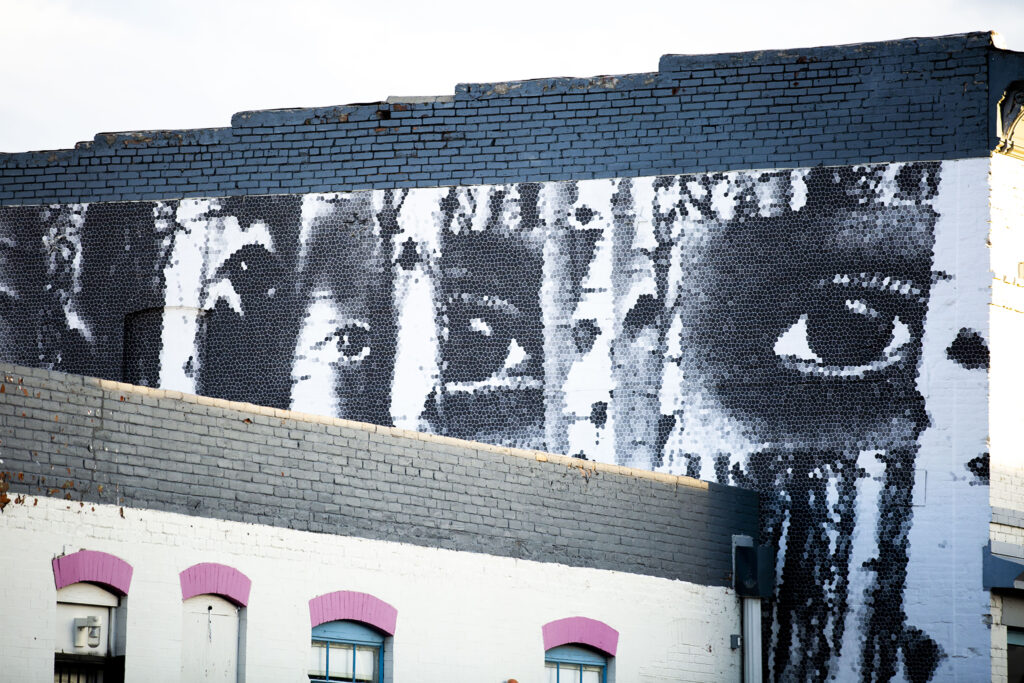 A mural by Koko  Beyer on the Dateline Gallery building, 3004 Larimer St. July 29, 2020.