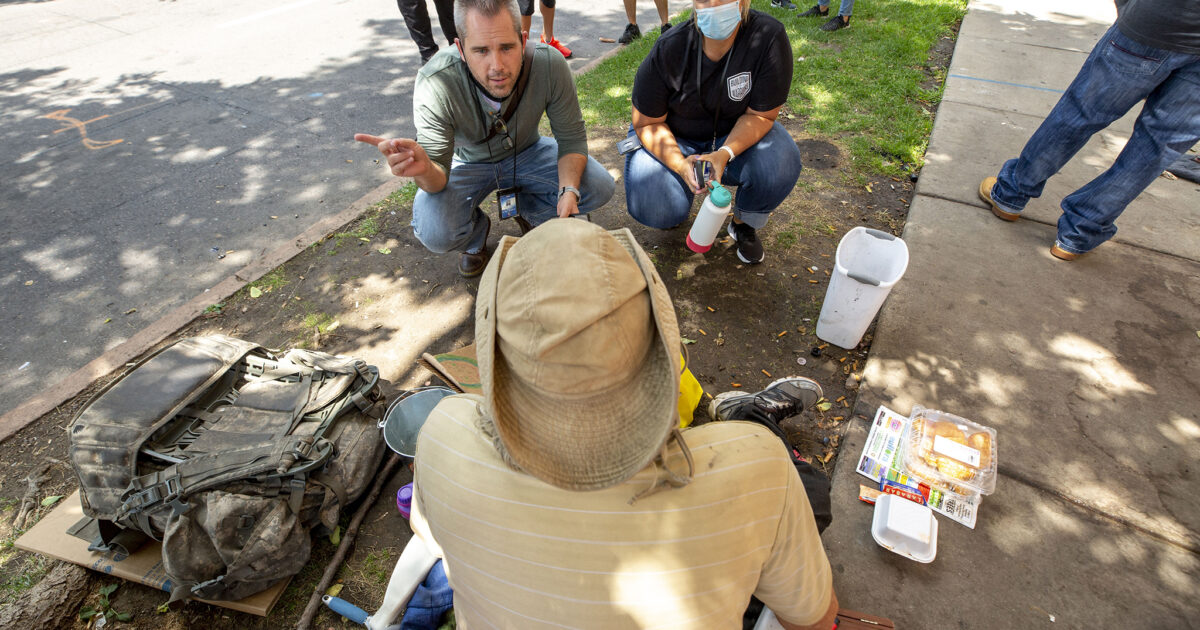 Service providers slam an operation this week to remove a tent city from a park near the state Capitol