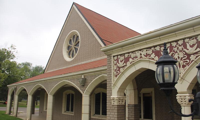 The Howard Berkeley Park Chapel on Wednesday, July 15, 2019, in northwest Denver. (Esteban L. Hernandez/Denverite)