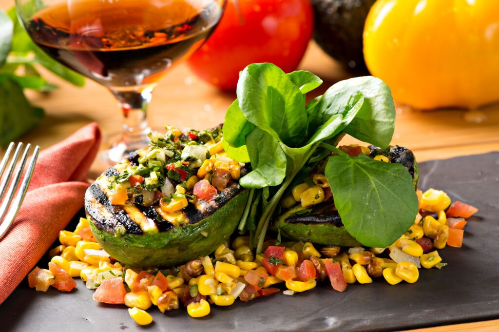 A grilled avocado dish at Toro Latin Kitchen & Lounge.