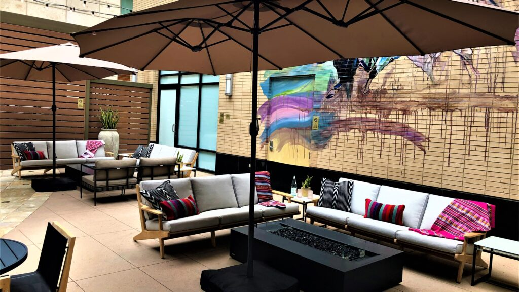Part of the patio at Toro Kitchen & Lounge.