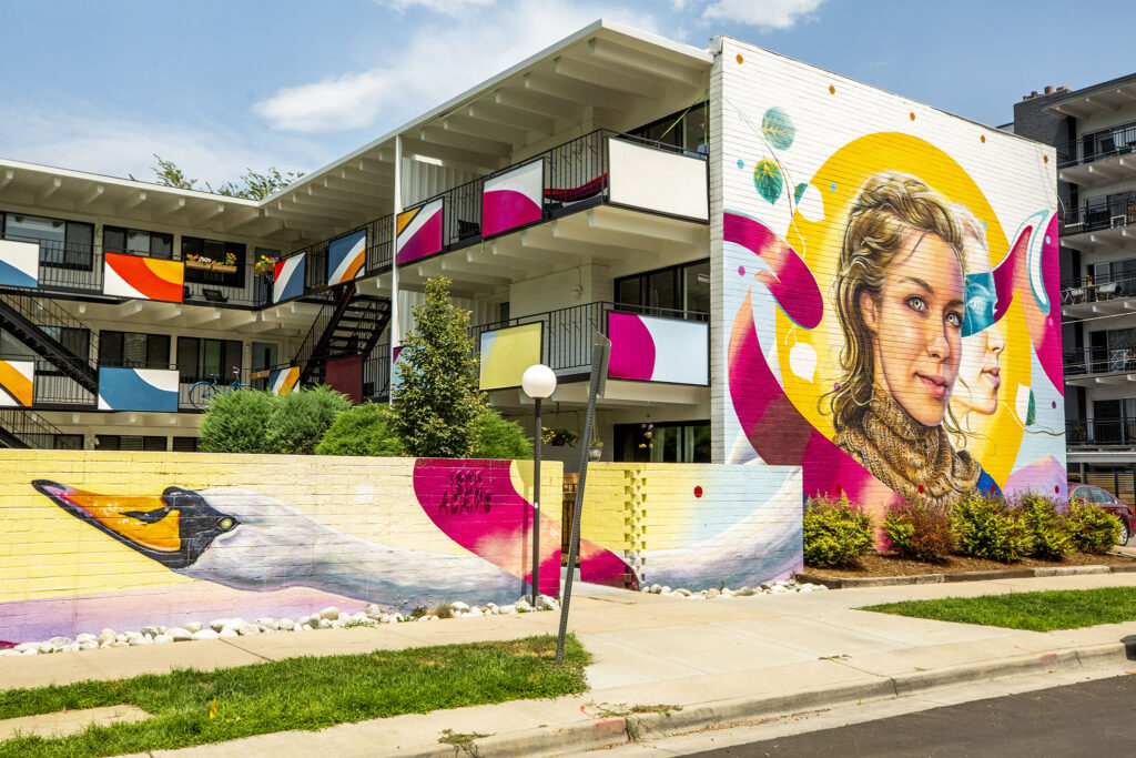 A mural by Nick Napoletano at 1300 Adams St. in Congress Park. Aug. 5, 2020.